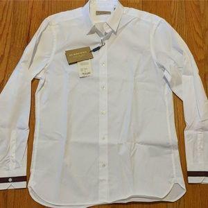 "Burberry ""Reynoldton"" Striped Cuff Button Up Shirt"